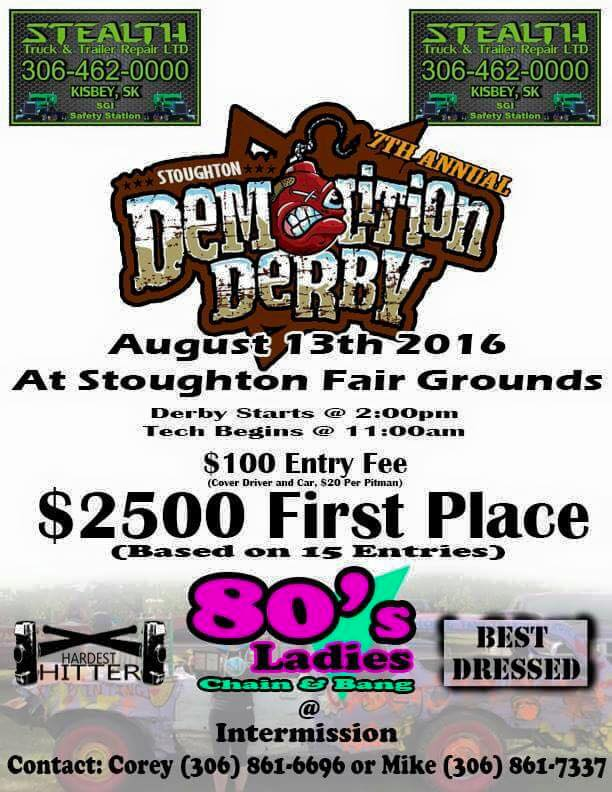 Stoughton Demolition Derby @ Stoughton Fair Grounds