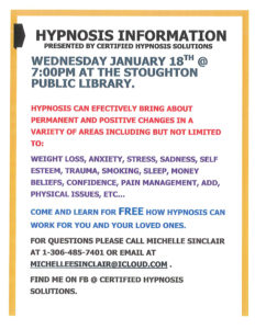Hypnosis Information @ Stoughton Public Library