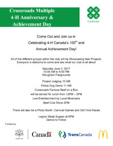 Crossroads Multiple 4-H Anniversary & Achievement Day @ Stoughton Fairgrounds