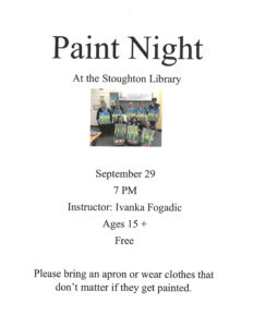 Paint Night @ Stoughton Public Library