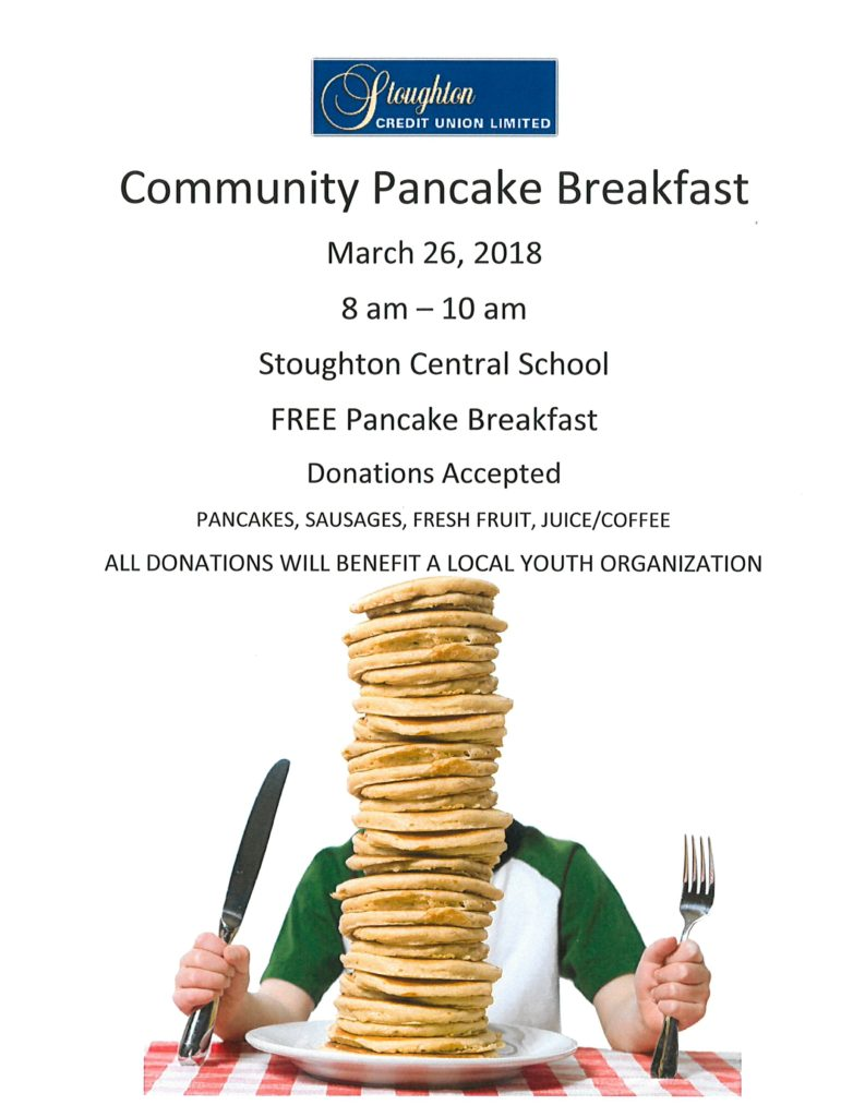 Community Pancake Breakfast @ Stoughton Central School