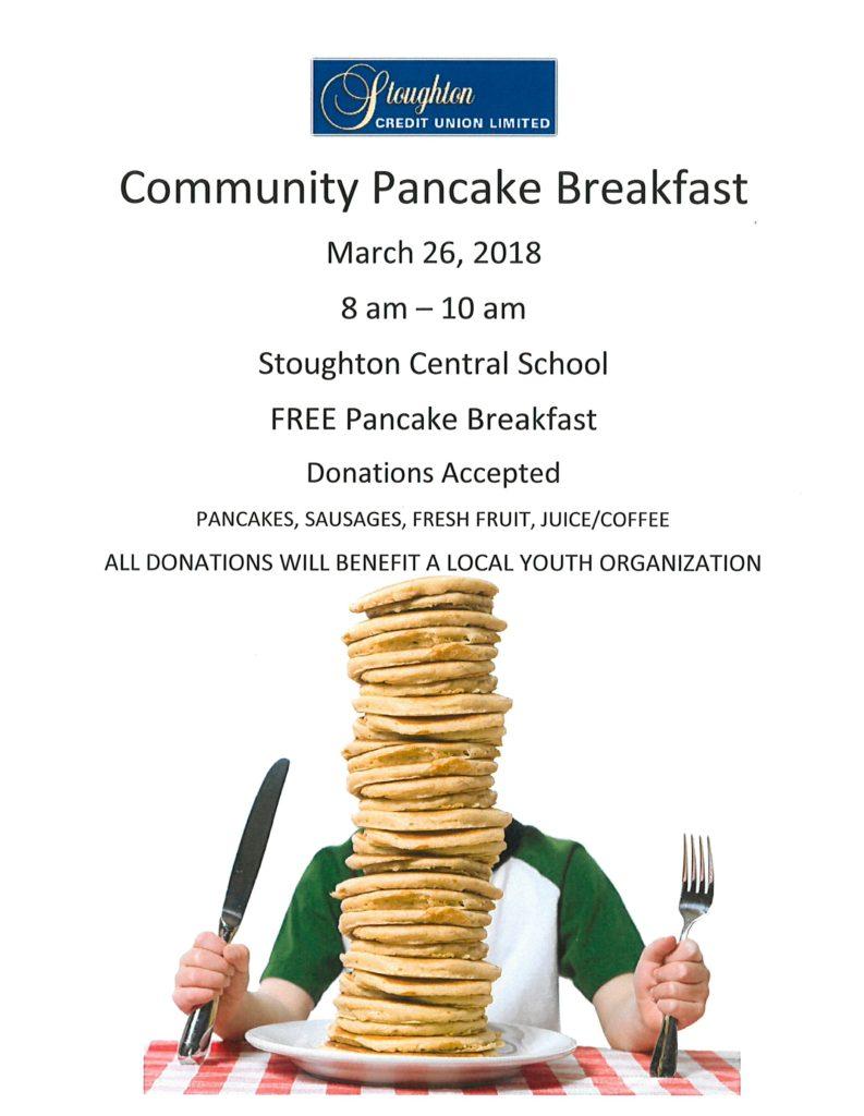 Community Pancake Breakfast @ Stoughton Central School