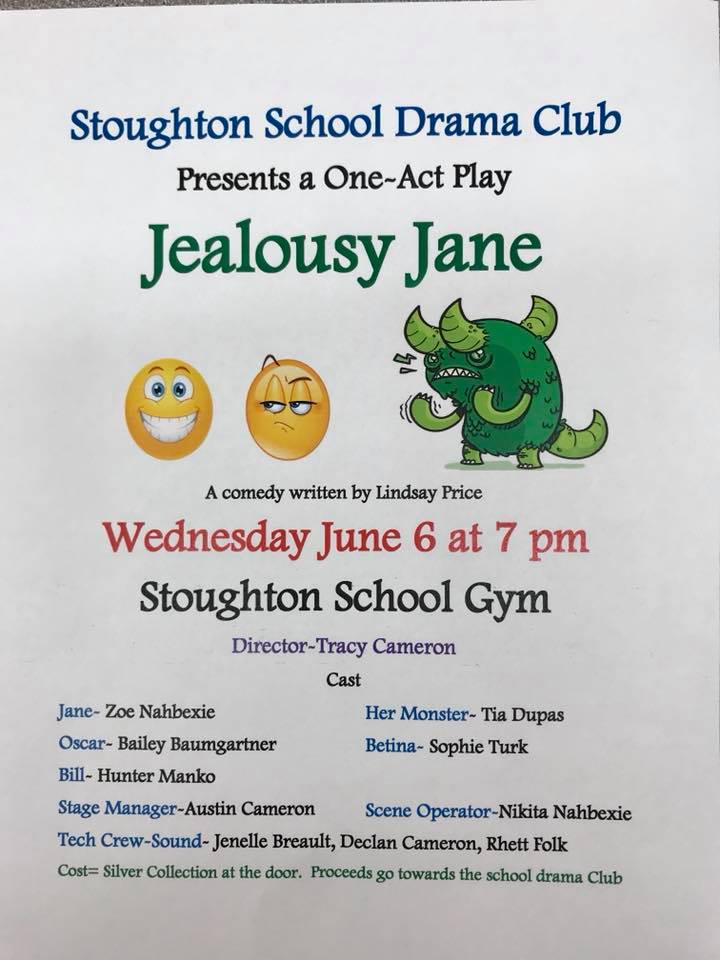 Jealousy Jane @ Stoughton Central School