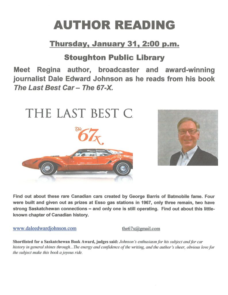 Author Reading - Dale Edward Johnson @ Stoughton Public Library