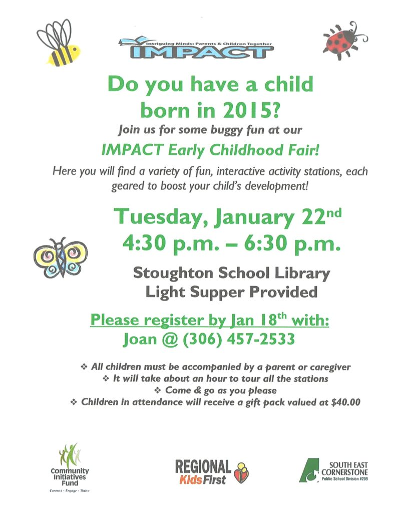 IMPACT Early Childhood Fair @ Stoughton Central School