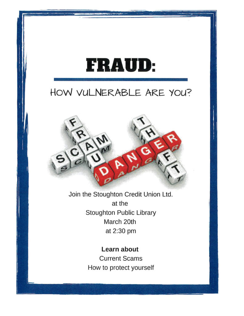 Fraud Information Meeting @ Stoughton Public Library